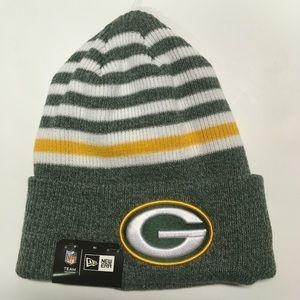 Green Bay Packers new Era striped beanie